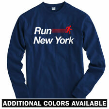 Run New York V2 Long Sleeve T-shirt LS - NYC Marathon City Fitness - Men / Youth