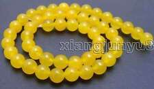 "SALE Round 8mm Yellow High quality jade gemstone beads strands 15""-los515"