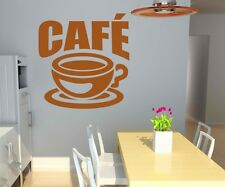 Wall tattoo Cofee Cup Kitchen Coffee Quote Wall sticker Text Wall Decal 5Q546