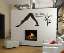 Wall tattoo Yoga Adho Mukha Scanasana Sport Sticker Figurine Wall Decal 5G052