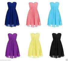 New Wedding Prom Party Evening Dress Short Bridesmaid Cocktail Gowns Hot Sale