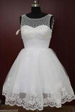 Mini Prom Homecoming Dresses Pearl Cocktail Evening Wedding Party Gowns Hot Sale