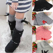 2015 Fashion Cute One Pair Baby Kid Children Leg Warmers Bowknot Cotton Stocking