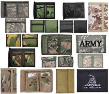 Wallets Camouflage Tri-Fold Nylon Commando Military Wallet Military Colors #1