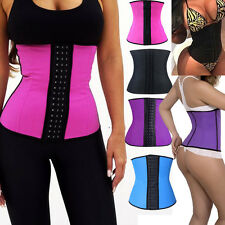 Purple Latex Rubber Waist Trainer Cincher Underbust Corset Body Shaper Shapewear