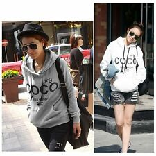 Fashion Women Girl COCO Print Hoodie Sweater Hooded Tops Sweatshirt Outwear Coat