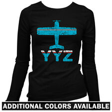 Fly Toronto YYZ Airport Women's Long Sleeve T-shirt LS - Pearson Ontario CA S-2X