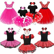 Girls Baby Toddler Polka Dots Xmas Outfit Party Fancy Tutu Dressing up Costume
