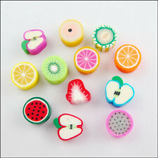 Wholesale New Charms Mixed Polymer Fimo Clay Fruit Spacer Beads 10mm