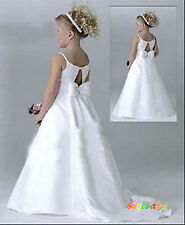 New Wedding Evening Flower Girls Dress Pageant birthday gift Christmas Formal-G