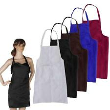 Adjustable Plain Apron with Front Pocket Butcher Waiter Chef Kitchen Cooking Bid