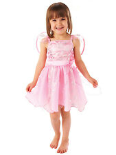 Girls Childs Christmas Fancy Dress Angel Snowflake Pink Toddler Costume 1-3yrs