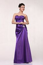 Long Prom Bridesmaids Formal Dress Strapless Sweetheart Plus Size Party Cocktail