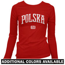 Polska 1918 Women's Long Sleeve T-shirt LS - Poland Polonia Polish Warsaw - S-2X