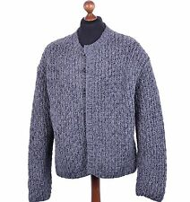 DOLCE & GABBANA Oversize Cable Knit Knight-Style Cardigan Grey 04094