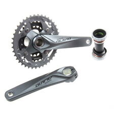 Shimano M4050 Front Crankset 9 Speed Mountain Bike Silver Hollowtech Crank Arm