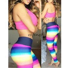 HOT Women's Color Skinny Sport Capri Ankle Workout Legging