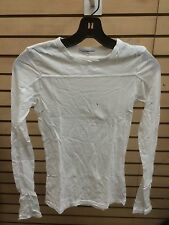James Perse sz 2  white long sleeve WBL3009 must have t shirt blouse top l/s