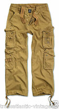 VINTAGE COMBAT TROUSERS MENS ARMY CARGO WORKWEAR CLASSIC ARMY PANT BRANDIT BEIGE