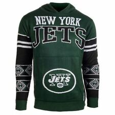 Klew New York Jets Green Big Logo Ugly Sweater Pullover Hoodie