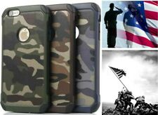 Camouflage iPhone Galaxy Military Case Camo Army 4 5 5S 6 7 8 Plus Rugged Rubber