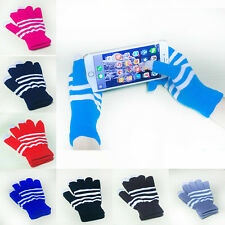 1 Pair New Unisex Winter Magic Touch Screen Knitted Gloves Smartphone Texting m4