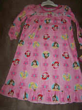 NWT DISNEY PRINCESSES Pink Brushed Polyester NIGHTGOWN Size 2T or 4T Free Ship
