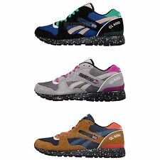 Reebok GL 6000 Trail Pack Splatter Suede Mens Retro Casual Shoes Sneakers Pick 1