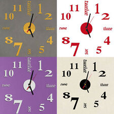 Mini Modern DIY Wall Clock 3D Sticker Design Home Office Room Decor Xmas Gift