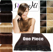 Full Head One Piece 5 Clip In 100% Real Remy Human Hair Extensions Hair pieces