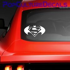 Batman v Superman Vinyl Decal, Car Window Decal