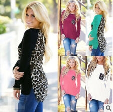 NEW Womens Ladies Long Sleeve Sexy Leopard Chiffon Shirt Tops Blouse T-Shirt G94