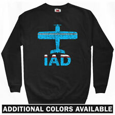 Fly Washington DC IAD Airport Sweatshirt Crewneck - Dulles USA Plane Men - S-3XL