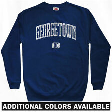 Georgetown DC Sweatshirt Crewneck - Washington Hoyas University DCA - Men S-3XL