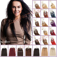 Micro Ring Hair Extensions Easy Loop Bead100%Brazilian Remy Human Hair1g0.8g0.5g
