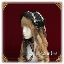 Vintage Gothic Lolita Victoria Lace Bow Cross Sweet Princess Headband Hair Band