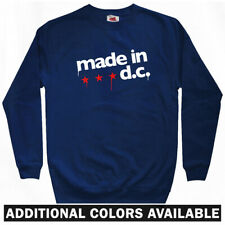 Made in DC Sweatshirt Crewneck - Washington Wizards Nationals Caps - Men S-3XL