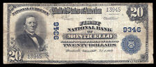 $20 1902 PB The First National Bank of Monticello, Georgia  CH# 9346  Fine