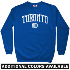 Toronto 416 Sweatshirt Crewneck - Maple Leafs Blue Jays Raptors Canada Men S-3XL
