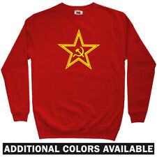 USSR Star Soviet Sweatshirt Crewneck - Russia Russian Communist CCCP - Men S-3XL