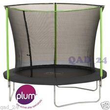 PLUM 8FT TRAMPOLINE WITH ENCLOSURE SAFETY NET COVER KID BDAY GIFT OUTDOOR PARTS