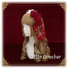 Sweet Gothic Lolita Vintage Palace Princess Lace Bow Headband Hair Band Handmade