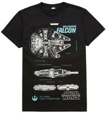 Star Wars T-Shirt Millenium Falcon The Force Awakens Sizes S-XXXL 100% cotton ne