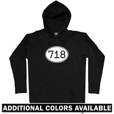 Area Code 718 NYC Hoodie - New York City Bronx Brooklyn Queens NY US - Men S-3XL
