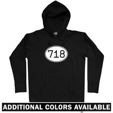 Area Code 718 NYC Hoodie - New York City Bronx Brooklyn Queens NY  - Men S-3XL