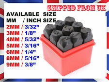 METAL STAMP PUNCH SET (0-9) NUMBER CASE STEEL METAL DIE TOOL CRAFT MM SIZE @ UK