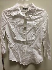 james perse WLS3132 womens white button down shirt blouse  new cotton vintage