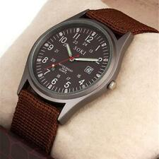 Fashion Concise Mens Watches Casual Ventilate Canvas Analog Quartz Analog Watch