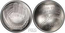 2014 NATIONAL BASEBALL HALL OF FAME HOF $1 SILVER UNCIRCULATED COIN w/COA + OGP!