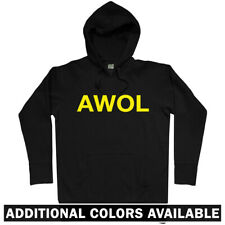 AWOL Hoodie - Army Infantry Military USMC Marines Navy Air Force USA - Men S-3XL